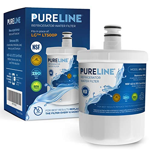 PURELINE 5231JA2002A Refrigerator Water Filter, Replacement for LG LT500P, ADQ72910911, GEN11042FR-08, ADQ72910901, ADQ72910907, Kenmore 9890, 469890