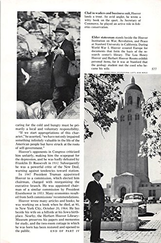 Great Price! Print Ad 1965 Clad in waders and business suit, Hoover lands a trout