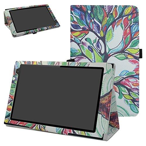 MAMA MOUTH Alldaymall Tablet 10.1 A10T Custodia, Slim Sottile di Peso Leggero con Supporto in Piedi Caso Case per Alldaymall Tablet 10.1 A10T Tablet,Rosso