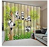 WKJHDFGB Rideaux D'Occultation Chambre 3D Ombrage Parc Animalier Panda Enfants Salon...