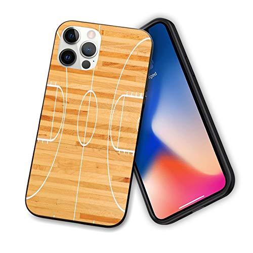 Deportes compatible con el nuevo iPhone 12 Series 2020, diseño estándar de suelo en parquet, impresión de cancha de baloncesto, diseño flexible y delgado de TPU para iPhone 12 mini 5.4 pulgadas