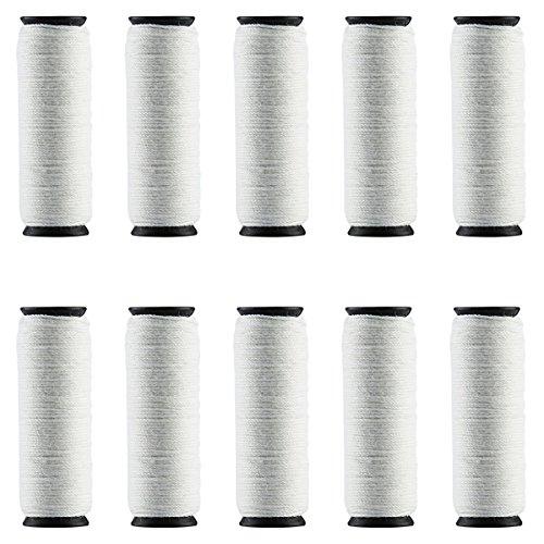 ECVISION Epilierer Baumwollschnur Kordeln 25M für Gesichtsepilierer und Gesichtsreinigungsbürste Kordeln, weiß