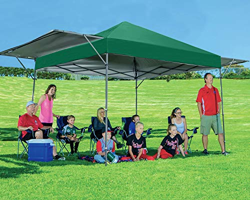 MASTERCANOPY Pop up Canopy Tent Outdoor Canopy of 10x17 ft Instant Canopy with 170 Square feet of Shade Canopy. Sandbags x4, Tent Stakes x8(Forest Green)