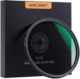 K&F Concept Filtro polarizador CPL Slim 77mm Vidrio Alemán Schott con 18 Capas Recubrimiento Multirresistente y Funda.