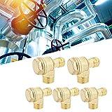 Válvula de retención del compresor de aire, 5 piezas Válvula de retención de aleación de aluminio del compresor de aire 550 W Accesorio neumático de 3 vías utilizado en el campo de los compresores de
