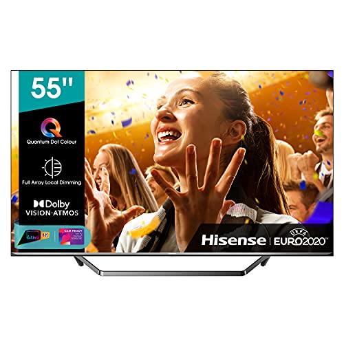 Hisense ULED 2020 55U71QF - Smart TV 55' Resolución 4K, Quantum Dot, FALD, Dolby Vision, Dolby Atmos, Vidaa U 4.0 con IA, Alexa Built-in