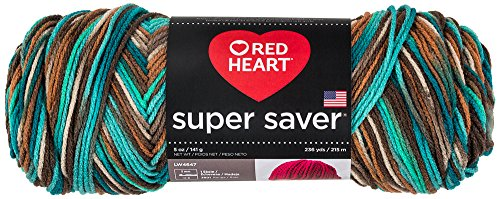 Red Heart Super Saver Garn, Almandine Druck Print - Reef