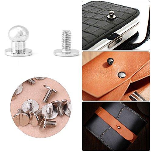 20Pcs Rundkopf Solide Nagel Rivet Button Silberne Knöpfe Stud Screwback Cap Nieten Gürtel Strap Bag Screws DIY Leder Zubehör