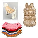 Il gatto del cane di animale domestico di 7 colori copre il cappotto. Colori: Nero, blu, rosso, rosa, arancio, marrone e marrone chiaro. Taglia: XS (lunghezza: 19-29cm), S (lunghezza: 24-25cm), M (Lunghezza: 29-30cm), L (lunghezza: 34-35cm), XL (Lung...