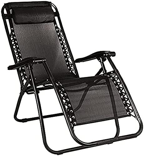 LPIJN 1x sillón reclinable sillón reclinable Plegable Bigzzia Silla de jardín Silla de Playa de Ocio con reposacabezas Adecuado para Acampar al Aire Libre en el jardín