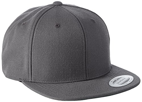Yupoong Unisex Classic Snapback Cap Kappe, darkgrey, Einheitsgröße