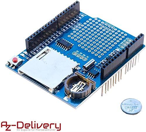 AZDelivery Modulo Data Logger Logging Shield Data Recorder per Arduino e con eBook