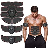 YILVV ABS Stimulator Muscle Toner, Abdominal Toning Belt Muscle Smart EMS Body Trainer, 6 Modes Portable Unisex Fitness Training Fat