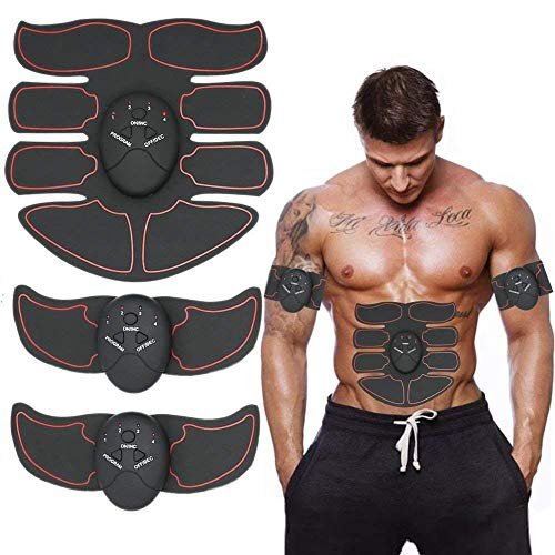 ABS Stimulator Muscle Toner, Abdominal Toning Belt Muscle Smart EMS Body Trainer, 6 Modes Portable Unisex Fitness Training Fat