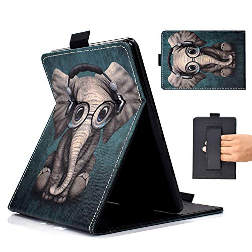 Outter Smart Hülle für Alle-Neu Kindle Paperwhite, Dünnste und Leichteste Schutzhülle mit Auto Schlaf/Wach Funktion & Handschlaufe(Kompatibel das Modell der 10. Gen 2018) - Elefant
