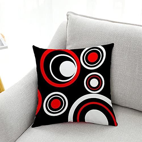 Funda de almohada de poliéster geométrico creativo, funda de cojín para el hogar, sofá, decoración de almohada de asiento de coche
