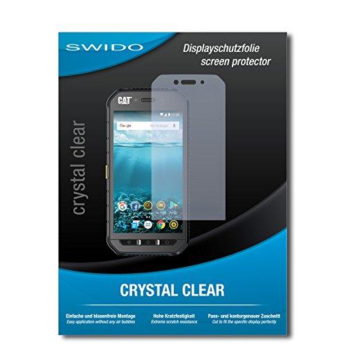 SWIDO Schutzfolie für Caterpillar Cat S41 [2 Stück] Kristall-Klar, Hoher Festigkeitgrad, Schutz vor Öl, Staub & Kratzer/Glasfolie, Bildschirmschutz, Bildschirmschutzfolie, Panzerglas-Folie