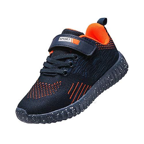 DUORO Jungen Atmungsaktiv Laufschuhe Sportschuhe Kinder Hallenschuhe Outdoor Running Schuhe Sneaker (37 EU, T294-Blau)