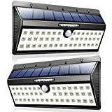 URPOWER Solar Lights, 44 LED Waterproof Motion Sensor Lights Outdoor Wireless Solar Powered Wall Light Motion Activated Auto On/Off Solar Security Lights Outdoor for Patio Deck Yard Cool White 2 Pack