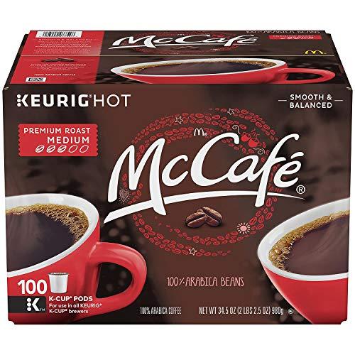 McCafe Premium Roast Coffee, K-CUP PODS, 100 Count (2 Pack) WEVB