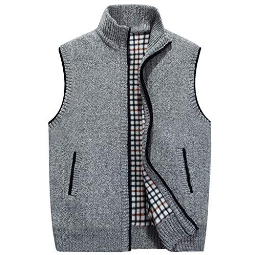Junjie Herentops, voor heren in de herfst en winter Pure Fleeced Warm Plaid bedrukte voering vest blouse
