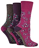 Drew Brady Damen Socken Gr. 37-42, Brown Floral