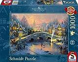 "Schmidt Spiele 58450 - Thomas Kinkade ""Villaggio invernale"", Puzzle da 1000 pezzi"