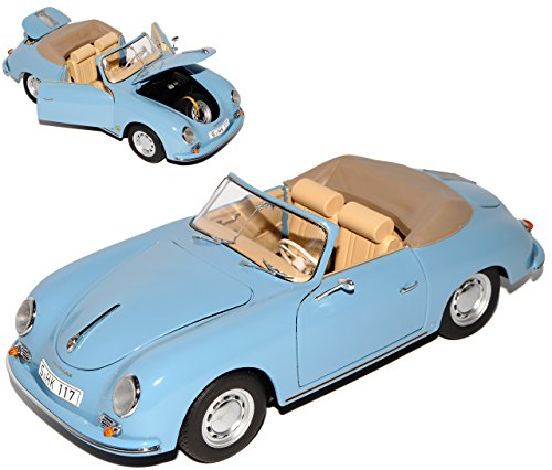 Schuco Porsche 356A Cabriolet Blau 1955-1959 1/18 Modell Auto