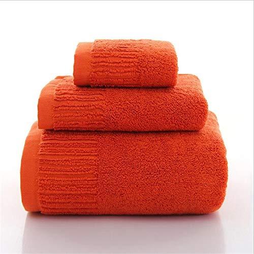 IAMZHL 3 Piezas 10 Colores Toallas de baño Juego de Toallas de algodón Grueso Toallas de Cara Toalla de baño para Adultos Toallas Toalla de baño de Alta absorción-a18-1 Bath 1 Hand