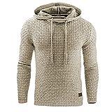 Men's Medium Cotton Blend Sweatshirt Sleeve Slim Hoodie Hoodie Autumn Winter Shirt...