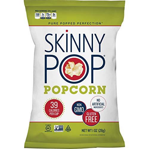 SkinnyPop - Original Popped Popcorn, Individual Bags, Gluten Free Popcorn, Non-GMO and Vegan Snack, No Artificial Ingredients, 1.0oz, (Pack of 12)
