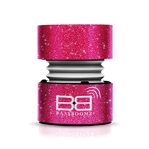 Bassbuds Tragbarer Bluetooth-Lautsprecher–Glitzer Rosa