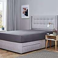 1 Silentnight Cotton Rich Fitted Sheet, Charcoal Grey Made with a blend of 60/40 cotton and polyester for a smooth and soft finish Elasticated corners offer a snug fit over your mattress Easy to care for; machine washable at 40°C, tumble dry safe