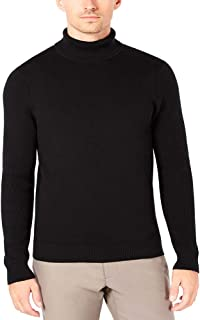 Ryan Seacrest Distinction Men's Mixed Guage Turtleneck Black X-Large