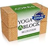 Aores Yoga Block Kork 2er Set - Ökologisch in Europa hergestellt - Plastikfrei und...