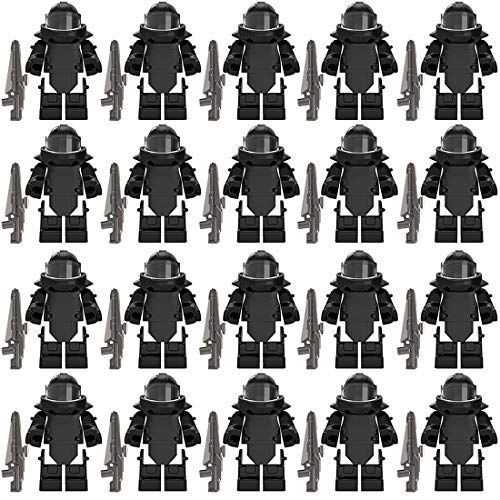 PARIO 20St. EOD Rüstung und Custom Waffen Set für Bundeswehr Pionier Mini Figuren SWAT Team Polizei, kompatibel mit Lego