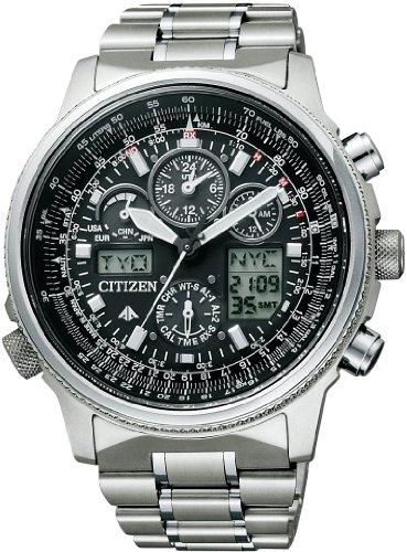 [シチズン]CITIZEN 腕時計 PROMASTER プロマスター エコ・ドライブ 電波時計 スカイシリーズ ジェットセッター クロノグラフ PMV65-2271 メンズ
