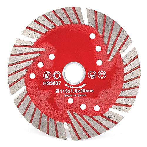 Disco de corte de baldosas de cerámica de diamante rojo con hoja de sierra circular de 115x1,8x20mm para decoración del hogar