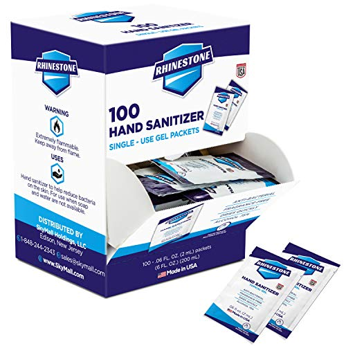 Rhinestone Single Use Instant Hand Sanitizer Packets – 2ml, Pack of 100