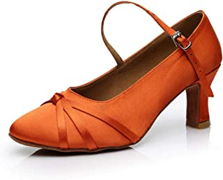lcky Women's Pumps, Elegant high Heels, Low-Heeled Latin Dance Shoes