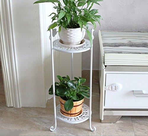 William 337 Stand de fleur en fer forgé fleur stand Stand-debout plante Stand balcon salon simple fleur Pot Rack 2 couche (Couleur : A)