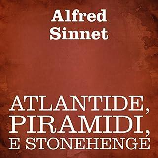 Atlantide, piramidi, e Stonehenge copertina
