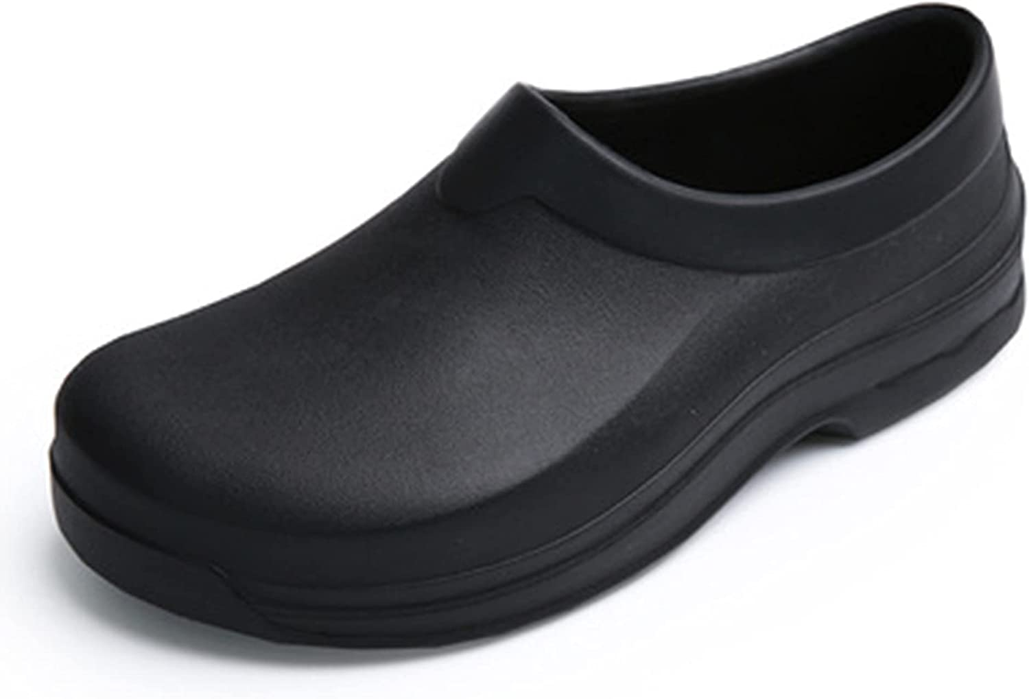 LIPROFE Chef Shoes for Men - Non Slip Oil Resistant Waterproof Safety Work Shoes Comfortable Nursing Nurse Shoes for Gardener Men Women Indoor and Outdoor Chef Clogs for Kitchen Office Seaside