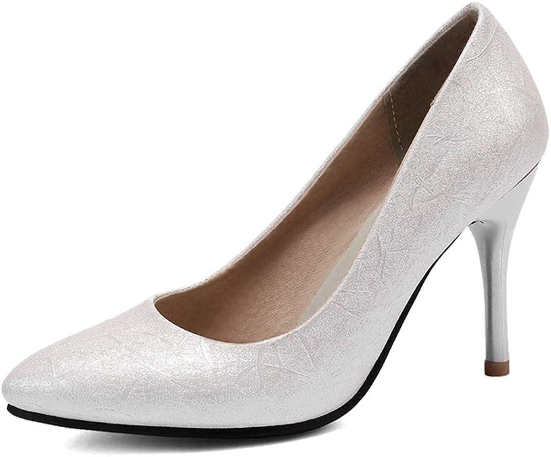 SaraIris Women's Thin High Heel Pointed Toe Court shoes Slip On Basic Pumps