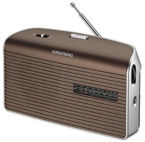 Grundig Music 60, empfangsstarkes Radio im modernen Design, brown/silver