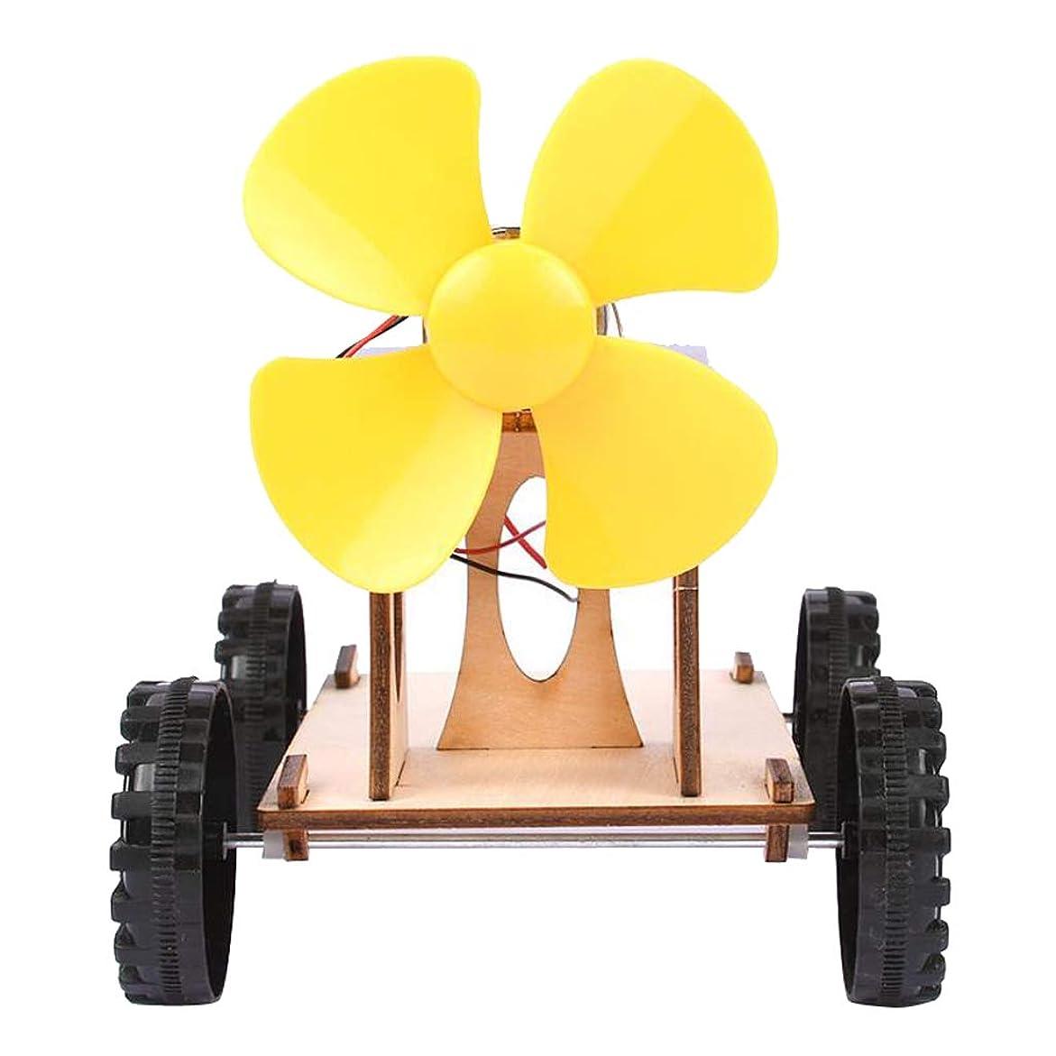 頭蓋骨議会劇場Perfeclan 発電車(太陽エネルギ+風力エネルギ) 組み立てカー 変換実験おもちゃ 科学教育 子供 DIY用 1台