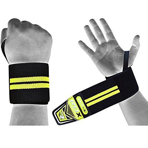 RDX Handgelenkbandagen Bodybuilding Fitness Grip-X, grün, One Size