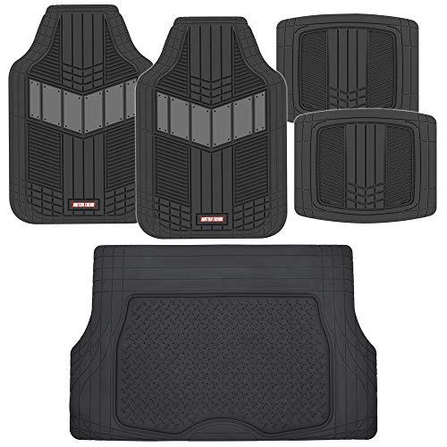 Motor Trend DualFlex Heavy Duty Rubber Auto Floor Mats w/Cargo Trunk Liner Cover...