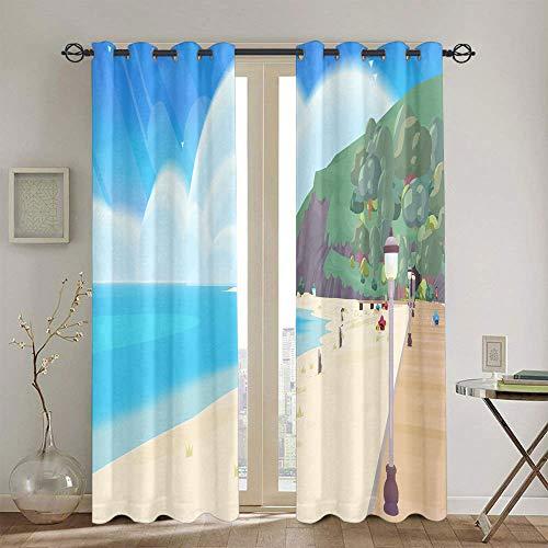 Cortinas de eficiencia energética Steven Universo Cortinas para dormitorio de niñas cortinas Chid personalizadas 42 x 45 pulgadas