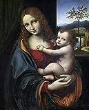 ThinkingPower Cuadro en Lienzo Famosos Carteles e Impresiones de Jesús religioso Cristiano de la Virgen María en la Pared, Imagen Art Deco 60x90cm